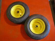 John  Deere front wheels and tires