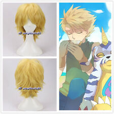 Digimon Adventure Ishida Yamato Matt Ishida Short Yellow Blonde Cosplay Wig