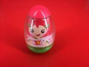 """Hasbro 2009 Playskool 3"""" Weeble Wobble, Girl With Bunny"""