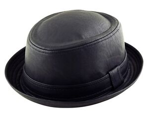 TEXTURED MATTE FAUX LEATHER PORK PIE HEISENBERG BREAKING BAD Style Porkpie Hat