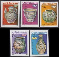VIETNAM N°982/983** Non Dentelés POTERIES, 1989 Vietnam 1988-1992 Imperf MNH