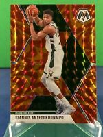 2019-20 Panini Mosaic Basketball GIANNIS ANTETOKOUNMPO Reactive Orange Prizm
