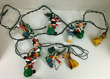 Disney Mickey Minnie Mouse Donald Goofy Pluto Christmas Gifts Lights Set of 9