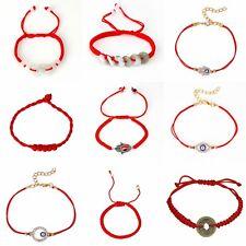 Eye Hamsa Jewelry String Adjustable A11 One Red Lucky Bracelet Kabbalah Evil