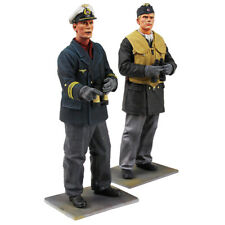 """W Britains 54mm #13017 """"On watch"""" German U-Boat captain and crewman"""