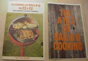 TWO COLORED COPIES OF SHEPARD BALL-B-Q GRILL PAMPHLETS FOR GRILL