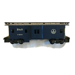 HO Scale B & O C-3000 Blue Caboose LIMA Made in Italy - Very Nice !
