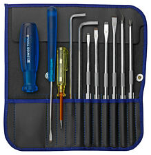 PB Swiss Tools PB 9215.Blue Screwdriver Set Slotted/Phillips/PoziDriv/Hex