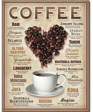 Coffee Lovers Metal Tin Sign Restaurant Kitchen Java Cappuccino Home Wall Decor