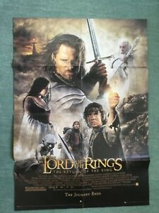 """Lord Of The Rings """"Return Of The King"""" Double Sided Movie Poster (82cm x 60cm)"""
