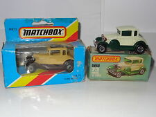 Matchbox lot of 2 FORD MODEL A - 73 BOXED