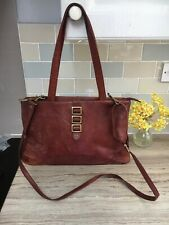 Ladies GIGI LEATHER HAND/SHOULDER BAG , HARDLY USED  (Brown) Soft Leather