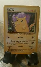 Very Rare Pikachu 58/102 Original Pokemon Card lv.12 #25 1995, 96, 98 Nintendo,