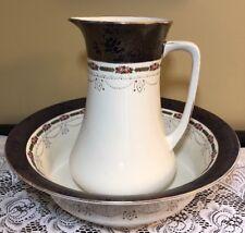 Antique Wedgwood Imperial Porcelain England Huge Pitcher & Basin