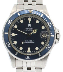 TUDOR Prince Oysterdate Submariner Stainless Steel Blue Dial Watch Ref: 76000