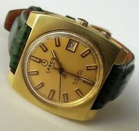 Vintage LANCO NAVAL Incabloc Gold Plated 17Jewels Cal.782-1 Swiss Made From 60's