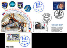 FDC Kazakhstan-France Proxima Soyuz MS-03 Back on Earth of Pesquet 2017 - TYPE1