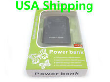 Black 9000mAh Portable Backup Battery USB Power Bank for iphone HTC Samsung S4