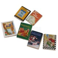 Lot 6pcs 1:12 Dollhouse Miniature Colorful Wooden Books Study Room Accessory