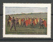Germany/Stuttgart 1913 Pfadfinder (Boy Scouts) Exhibition poster stamp/label