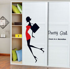 New Pretty Girl Wall Sticker Art Vinyl Decals Home Shop Window Closet Sticker
