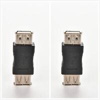 2x standard USB 2,0 type A femelle à femelle extension coupleur adaptateur_fr