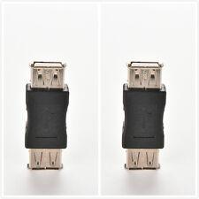 2x standard USB 2,0 type A femelle à femelle extension coupleur adaptateur