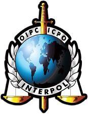 INTERPOL OIPC ICPO HELMET STICKER LAPTOP STICKER TOOLBOX STICKER WINDOW STICKER