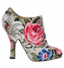 Pull On Slim Floral Boots for Women