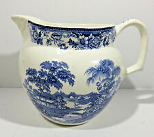 Vintage Royal Staffordshire Blue and White 32 oz.Porcelain Pitcher