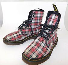 Rare Vintage DR MARTENS Tartan Plaid Combat Boots, UK 5 US 7