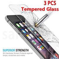 3X Pour iPhone X/7/6/6S/PLUS/4/5SE Vitre protection VERRE trempé Film d'écran