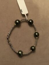 Lagos Tahitian Pearl And Sterling Silver Gold Bracelet
