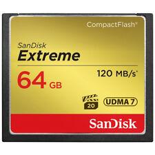 SanDisk Extreme 64GB CompactFlash CF Memory Card UDMA7 Read 120MB/s Write 85MB/s