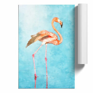 Flamingo Bird Painting Wall Art Poster Home Decor Picture