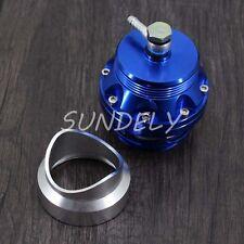 Blue 5cm Diesel Blow Off Valve Turbo BOV Dump Valve Regulating+Flange Adapter