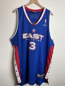 Allen Iverson signed 2005 NBA East All Star Reebok Swingman Blue Jersey XL