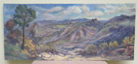 Painting Antique Landscape View Appennino Bolognese Painting Oil Board Signed