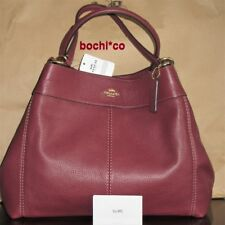 NWT Authentic Coach F28997 Lexy shoulder bag pebbled Leather Wine
