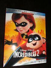 The Incredibles 2 (Blu Ray & Dvd Set) Disney Animated 2018 Film