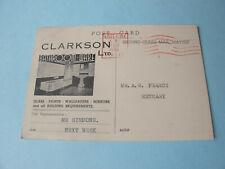 Bathroom Ware Clarksons Ltd Store Advertising Representatives Callout Postcard