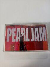 Ten Pearl Jam Audio Cassette tape debut album GRUNGE alternative HARD ROCK Epic