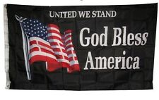 3x5 United We Stand God Bless America USA American Flag 3'x5' Banner Grommets