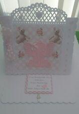 Personalised Christening/birthday Handmade Card boy or girl