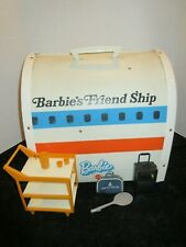 Vintage 1970s Barbie's Friend Ship Airplane Case w/Accessories United Airlines