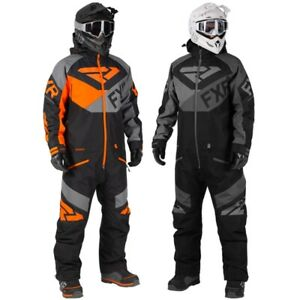 FXR Men's Fuel FX Winter Snow Snowmobiling  Monosuit - Black or Orange