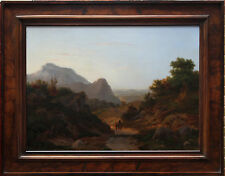 RAMSAY Richard Reinagle 1775-1862 britannico ITALIANO PAESAGGIO pittura ad olio arte