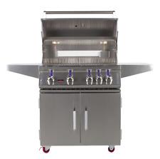 Bonfire 4 Burner Double Door Freestanding Ss Bbq Grill Cart Lp - Cbf4Dd