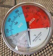 """6""""  BBQ CHARCOAL GAS ELECTRIC GRILL SMOKER PIT OVEN THERMOMETER GAUGE BPT GBR2.5"""