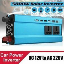 Solaire pur sinus Inverter 5000W DC 12V à AC 220V Onduleur Convertisseur 4USB